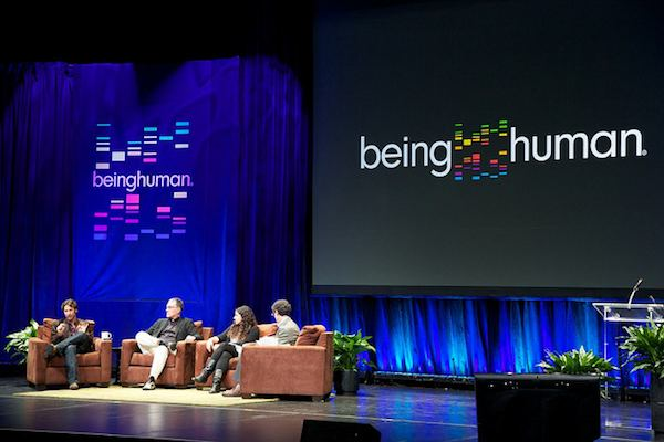 A panel discussion at the first Being Human conference in 2012