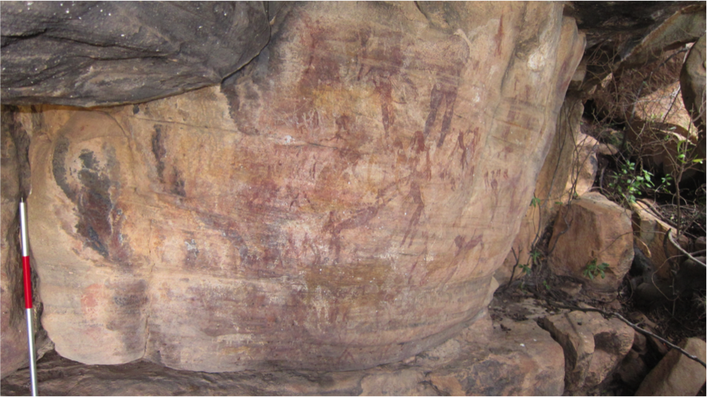 Rock art panel documented during survey. Photo credit: Dr. Christopher Ames.