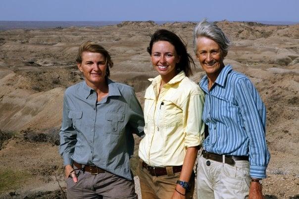 L to R: Louise Leakey, Ashley Hammond, Meave Leakey