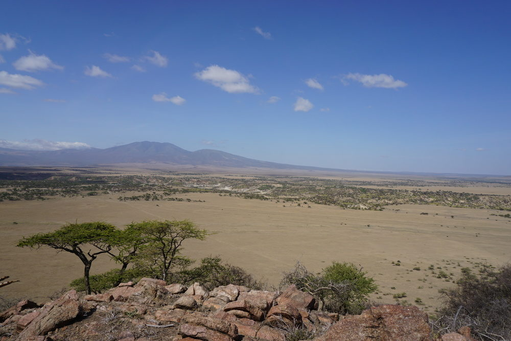 Olduvai Gorge, seen from the top of Naibor Soit inselburg