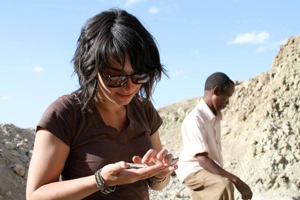 Alia Gurtov at Olduvai Gorge, Tanzania.