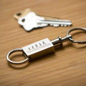 key chain with logo
