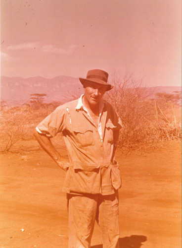 Louis Leakey in Kenya in 1955.