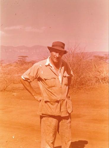 Louis Leakey in Kenya in 1955.