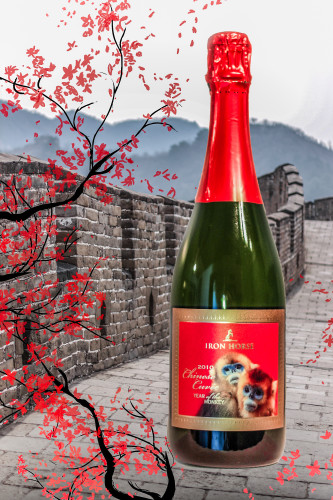 "Iron Horse Vineyards ""Year of the Monkey Chinese Cuvée to benefit The Leakey Foundation."