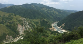 Eastern edge of the Hanzhong Basin in the Southern Qinling Mountains. This area is rich in Paleolithic sites believed to associated with H. erectus occupations, some may date to 1.2 - 1.5 Ma.